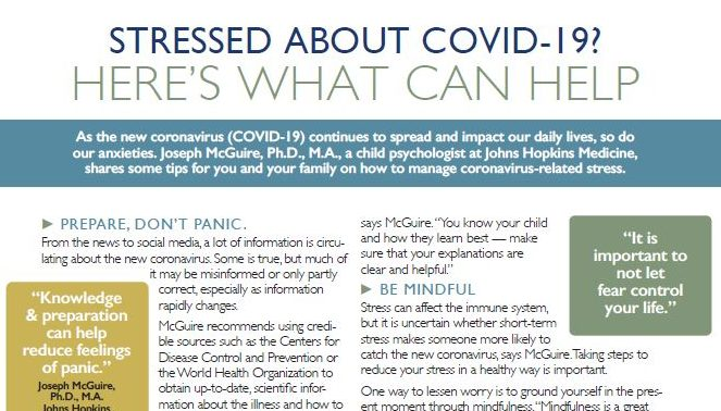 Managing Stress from COVID-19